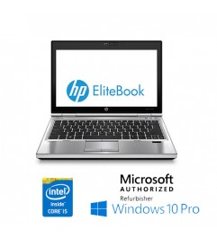 "Notebook HP EliteBook 2570p Core i3-3110M 2.4GHz 8Gb 128Gb SSD 12.5 HD WEBCAM Windows 10 Professional"""
