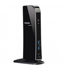 Hi Speed Port Replicator Docking Toshiba PA3927E-1PRP Toshiba Dynadock U3 USB 3.0 Type-A Black No Alimentatore