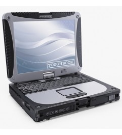 Notebook Panasonic Toughbook Rugged CF-19 Core i5-3320M 4Gb 500Gb 3G 10.1 Touch SERIALE Win 10 Professional""