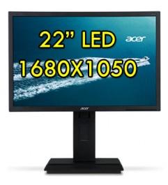 Monitor LCD 22 Pollici Acer B226WL 1680x1050 VGA DVI Black