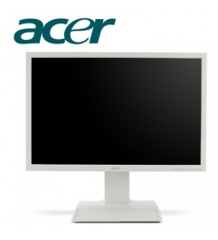 PC Monitor LCD 22 Pollici Acer B223WL Wide 1680 x 1050 VGA DVI WHITE