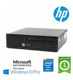 UltraSlim PC HP EliteDesk 800 G1 USDT Core i5-4570s 2.9GHz 8Gb Ram 240Gb SSD DVD Windows 10 Professional